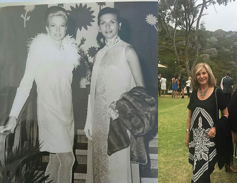 Pola Locum as a young model and now.
