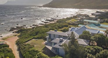 Aerial view of Rooiels, one of the coastal towns near Cape Town
